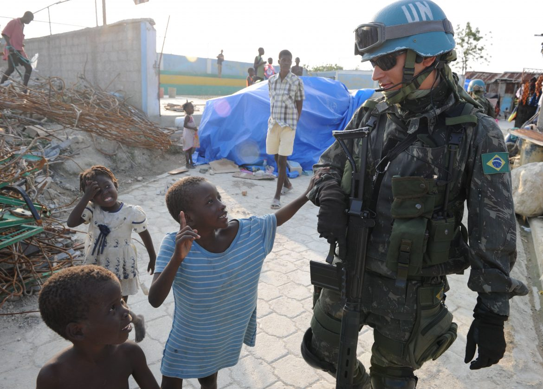 US peacekeeping soldier in Haiti